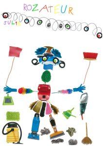 Julie, ton robot aspirateur Rozateur semble danser avec ses balais.