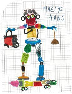 Wouah ! Ton robot fait du skate, Maëlys !