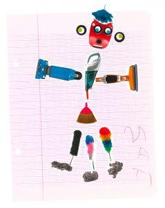 Un robot aspiro à trois jambes, très bonne idée, Mati.
