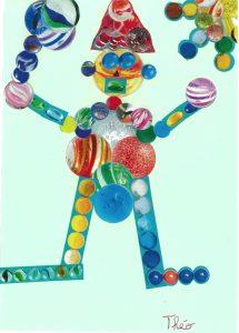 Théo, ton bonhomme est un jongleur de billes !