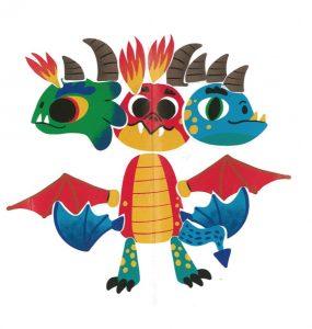 Wouah, un dragon à trois têtes ! Bravo Aédan.