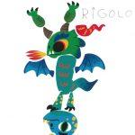 Avec sa tête sur les pattes, ton dragon est mégarigolo, Eli.