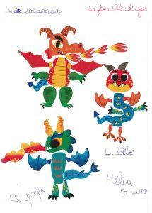 Ta famille dragon est très mignonne, Hélia.