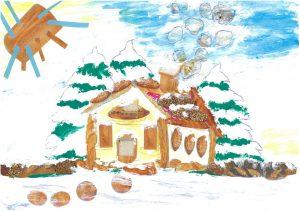 Quelle belle maison sous la neige, Gabriel !