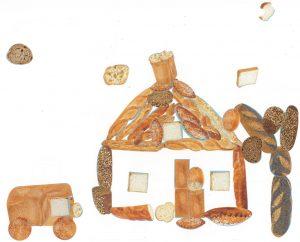 Tut tut, pouet pouet ! La voiture de Mathys arrive dans sa maison en petits pains.