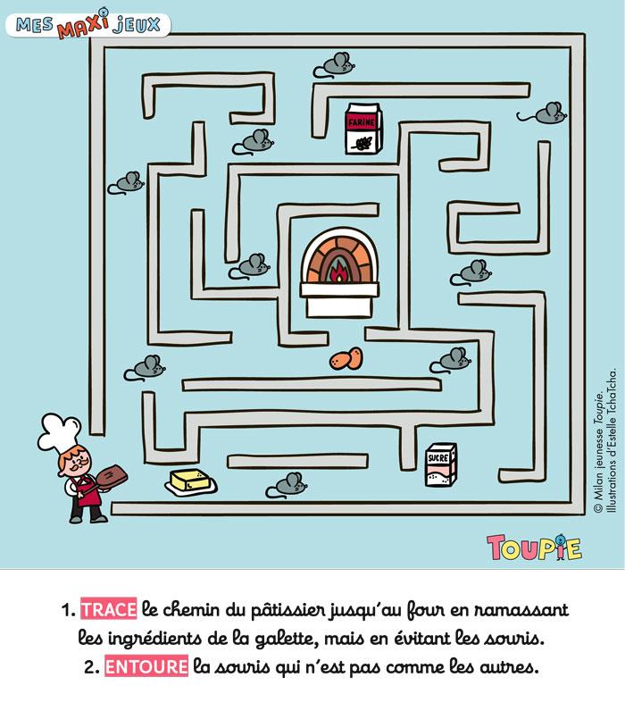 Toupie Poster jeux toupie - JANVIER