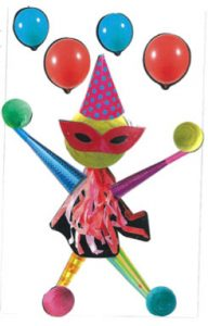 Qui veut s'amuser à lancer les ballons avec la Miss Carnaval de Chloé ?