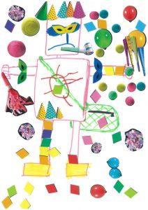 Un robot-Monsieur Carnaval ! Quelle bonne idée, Rose !