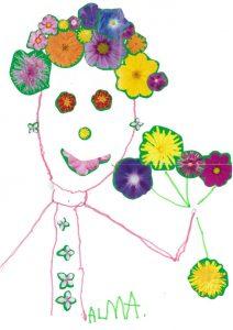 Alma, ces fleurs sont pour Toupie ? Merci !